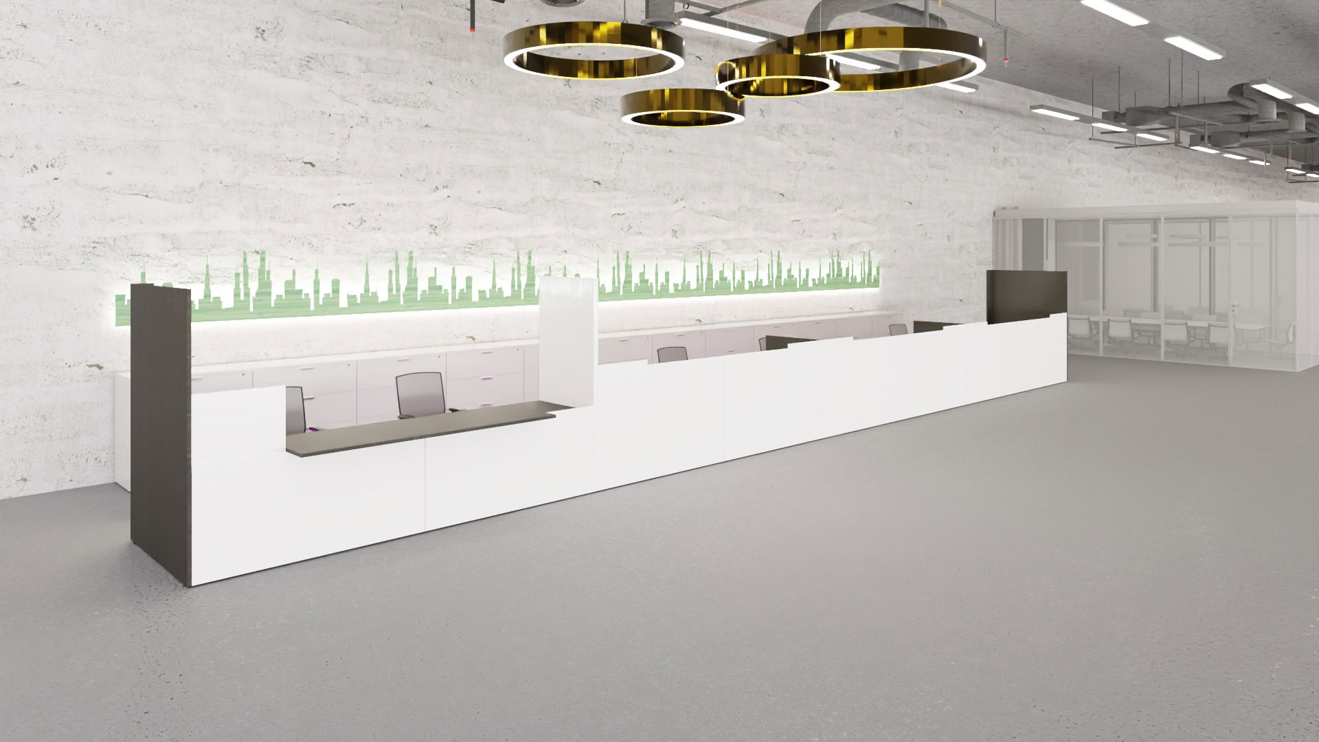 Product render in the interior